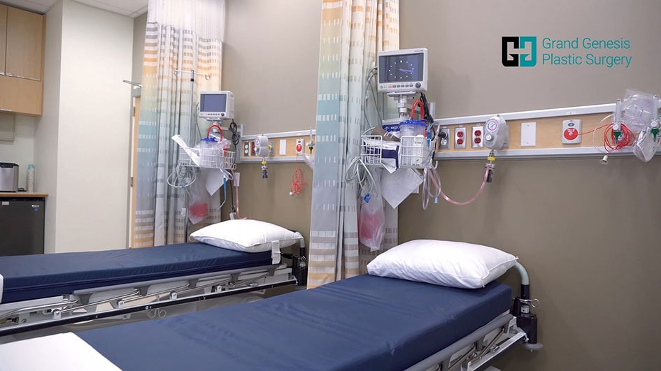recovery room of Grand Genesis Plastic Surgery